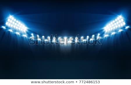 matériel · d'éclairage · extérieur · ciel · bleu · métal · bleu · stade - photo stock © posterize