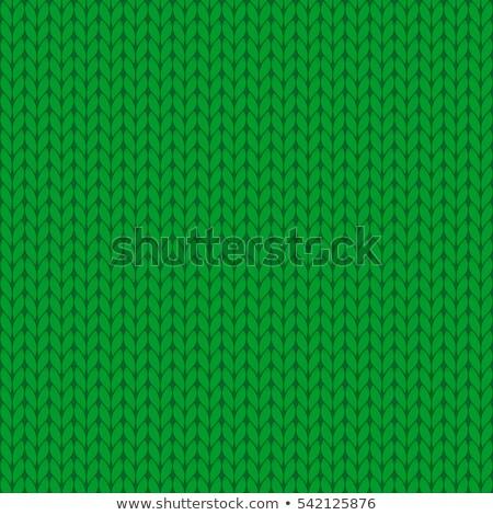 yeşil · örgü · yün · detay · doku · soyut - stok fotoğraf © ivelin