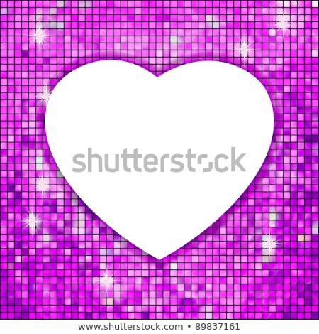 Stock photo: purple frame in the shape of heart eps 8