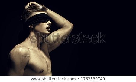 izmos · test · jóképű · testépítő · égbolt · szexi · sport - stock fotó © konradbak