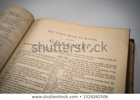 図書 章 古い 聖なる 聖書 学ぶ ストックフォト © skylight