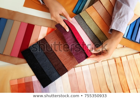 colorful curtain fabric samples stock photo © suljo