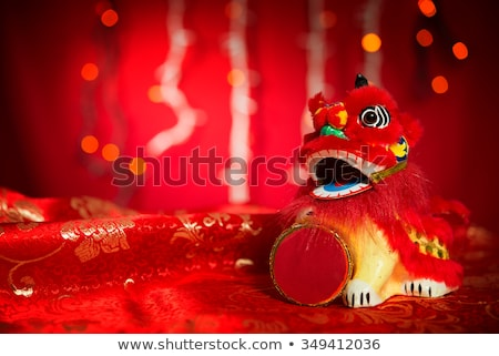 Happy Chinese New Year Symbols With Blurred Background Foto d'archivio © szefei