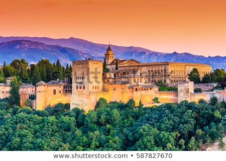 Alcazaba fortress in  Alhambra, Granada, SPain Stock photo © neirfy