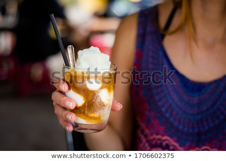 Woman drinking a class of milk Stock photo © photography33