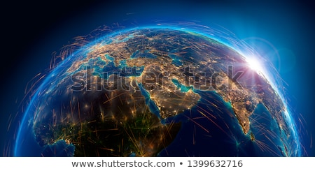świecie linia lotnicza 3D powietrza line biały Zdjęcia stock © 4designersart