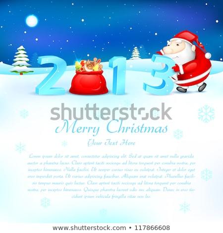 Santa Pushing 2013 Stockfoto © Vectomart