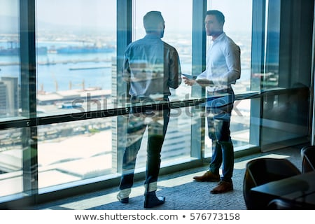 two men in deep reflection Stock photo © photography33