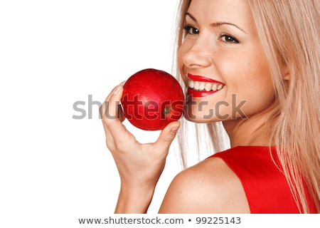 Attractive blond holding red apple Stock photo © photography33