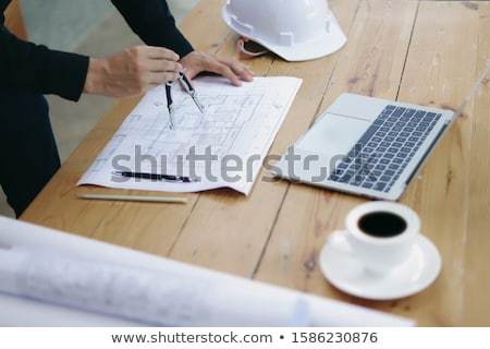 Builder looking at plans Stock photo © photography33