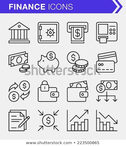 Piggy Bank On A Coins Diagram ストックフォト © Bisams