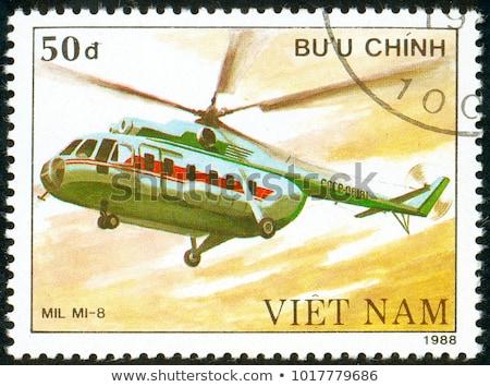 VIETNAM - CIRCA 1988: a stamp printed by VIETNAM shows image of a sailing ship, series, circa 1988 Stock photo © Zhukow