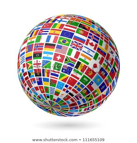 zászló · Európa · Föld · világ · földgömb · fókuszált - stock fotó © dacasdo