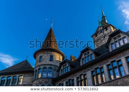 ülke müze Zürih İsviçre kırmızı Avrupa Stok fotoğraf © Bertl123