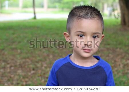 Közelkép boldog egyéves spanyol baba fiú Stock fotó © dacasdo
