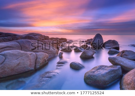 Stok fotoğraf: Güzel · deniz · manzarası · tekne · dağlar · mavi · gökyüzü · plaj