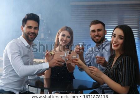 Tequila ital fotó lövés gyümölcs üveg Stock fotó © jirkaejc