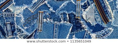 Denim fabric with a seam Stock photo © inxti