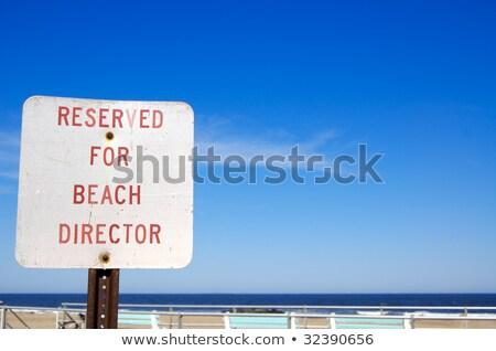 Foglalás felirat tengerpart tenger nyár utazás Stock fotó © almir1968