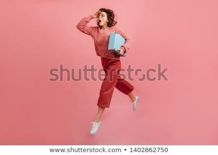 estrés · negocios · mujer · ejecutando · reloj · concepto - foto stock © lunamarina