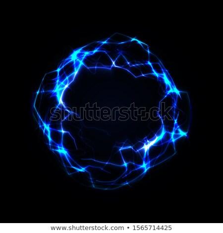 Fraktal yıldırım yalıtılmış siyah mavi bilim Stok fotoğraf © ArenaCreative