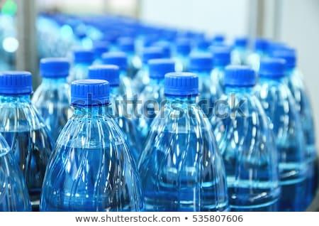 fleswater · geïsoleerd · witte · Blauw · drinken · fles - stockfoto © redpixel