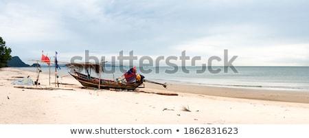 港 · ボート · 南アフリカ · 水 · 海 · 山 - ストックフォト © forgiss