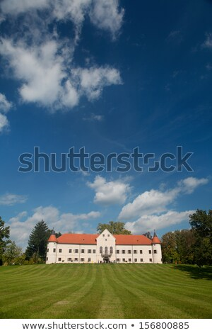 Luznica baroque manor is located just 20 kilometers west of Zagr Stock photo © gsermek
