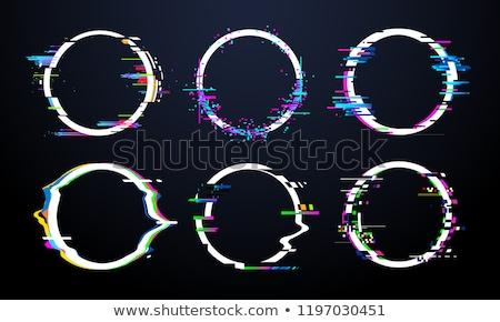 Vervormd kleurrijk abstract icon business ontwerp Stockfoto © cidepix