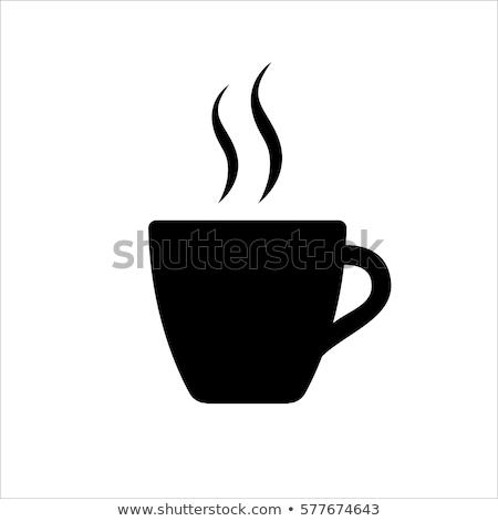 кружка кофе икона иллюстрация изолированный белый шоколадом Сток-фото © cidepix