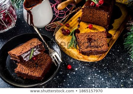 gotować · ciasto · portret · przystojny · mężczyzna · uniform · patrząc - zdjęcia stock © m-studio