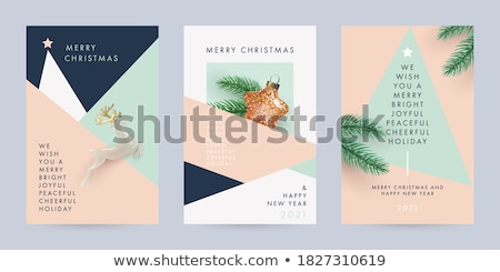 design for new year template brochure card collection colorful c stock photo © bharat