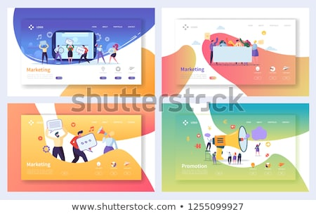 sociale · mensen · communicatie · procede · vector · business - stockfoto © burakowski