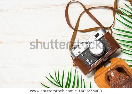 ヴィンテージ · 映画 · カメラ · 革 · 場合 · 孤立した - ストックフォト © jirkaejc