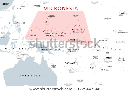 Pacific map with Micronesia Stock photo © Ustofre9