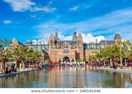 Amsterdam museum woorden gebouw zon groene Stockfoto © joyr
