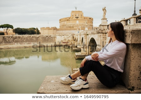 Sant Angelo Castle and Bridge in Rome, Italia. Stock photo © bloodua