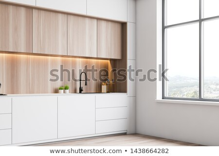 Küche tippen Ecke Hausarbeit glänzend Glas Stock foto © racoolstudio