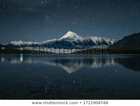 sarki · éjszaka · hó · tél · fények · városkép - stock fotó © taiga