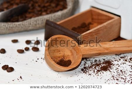 meel · metaal · schep · keukentafel · tarwe · witte - stockfoto © zerbor