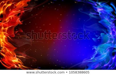 Fire background, vector illustration Stock photo © carodi