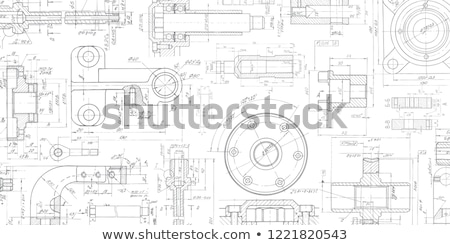 technical drawing Stock photo © flipfine