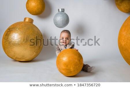 kicsi · fiú · legelő · pitypang · égbolt · fű - stock fotó © konradbak