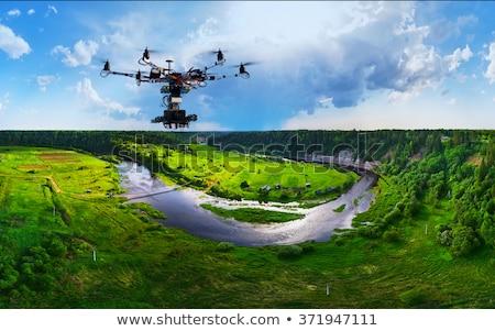 drone flying over park Stock photo © PixelsAway