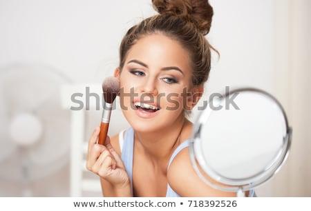 Nő sminkel Stock fotó © lithian