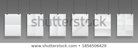 Pusta strona wiszący niebieski wektora format papieru Zdjęcia stock © cajoer