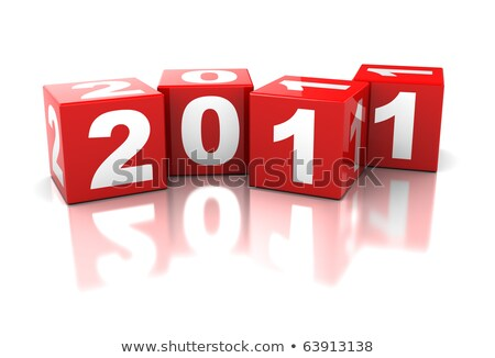 colour cubes with 2011 with reflection Stock photo © marinini