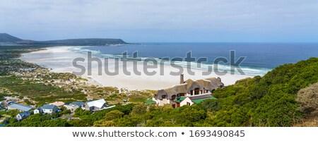Görmek sahil deniz dağ okyanus mavi Stok fotoğraf © pumujcl