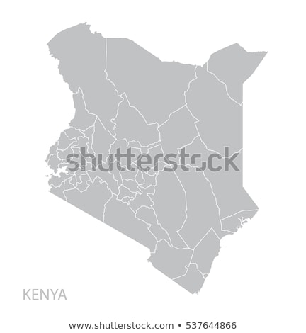Kaart Kenia Blauw vector geïsoleerd Stockfoto © rbiedermann