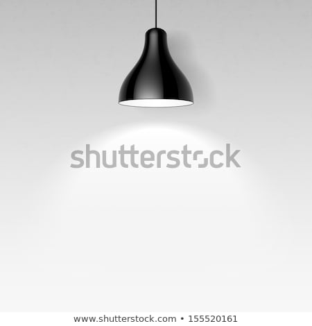 Foto stock: Negro · techo · lámparas · vector · galería · interior